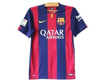a201c7c63a6 Vintage Barcelona Football Shirt, Blue Red Nike Jersey, Rare Nike Football  Shirt, FC Barcelona Jersey, Soccer Shirt,, Soccer Jersey, Size S