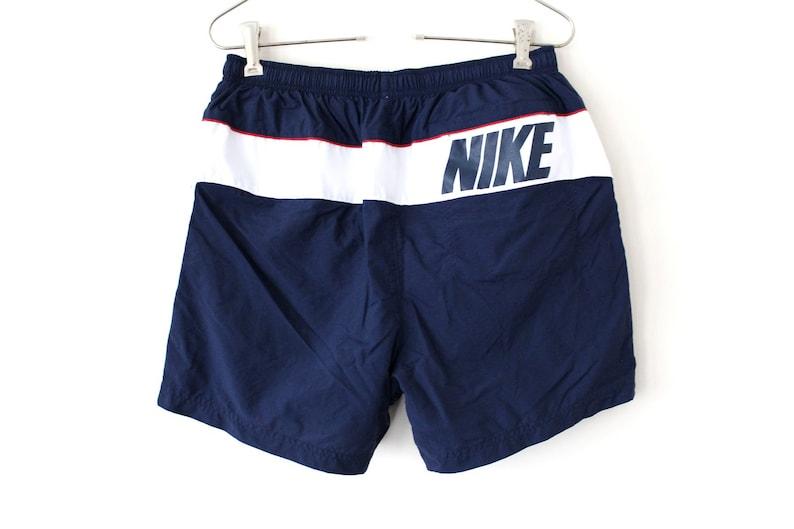 b092d032619d5 Blue White Nike Shorts 90's Nike Swimming Shorts Big | Etsy