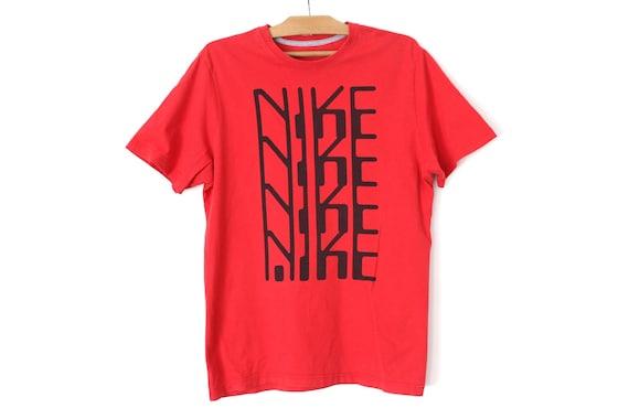 f8b4d6ff 90's Nike T-shirt Vintage Nike Shirt Red Short Sleeve | Etsy