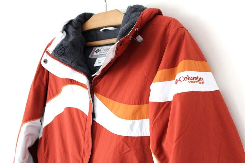 90er Jahrgang Columbia Scheitelpunkt Jacke, Ziegel Wintermantel, Columbia Windbreaker, Columbia Jacke, Berg Wandern Extreme Jacke Größe L