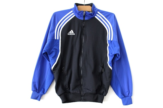 Black Adidas Tracksuit Jacket, worn a few times good Depop