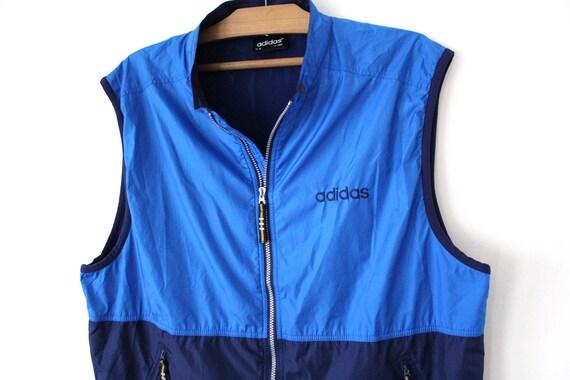 Imaginación Vendedor agujas del reloj  Vintage Adidas Windbreaker Blue Jacket Full Zip Sweatshirt | Etsy