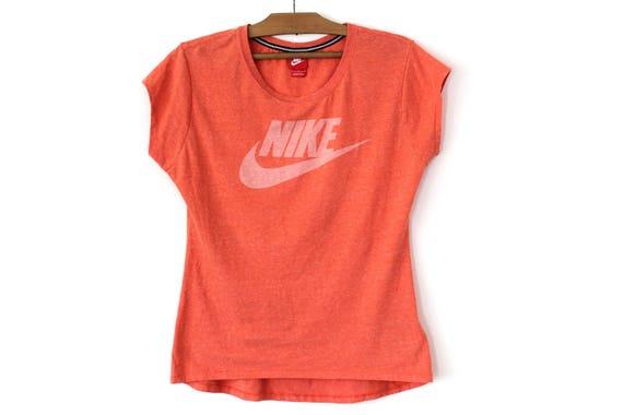 chemise Nike vintage, T shirt 90's, T shirt femme, Sweatshirt Orange Short Sleeve, Activewear, Hip Hop Nike Tee Size L, Tank Top