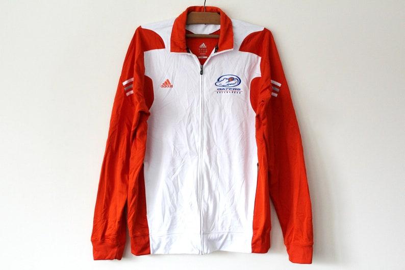 Orange White Adidas Tracksuit, Vintage Adidas Jacket, Adidas Sport Jacket, Adidas Training, Zip Up Retro Adidas Sweatshirt, Size XL