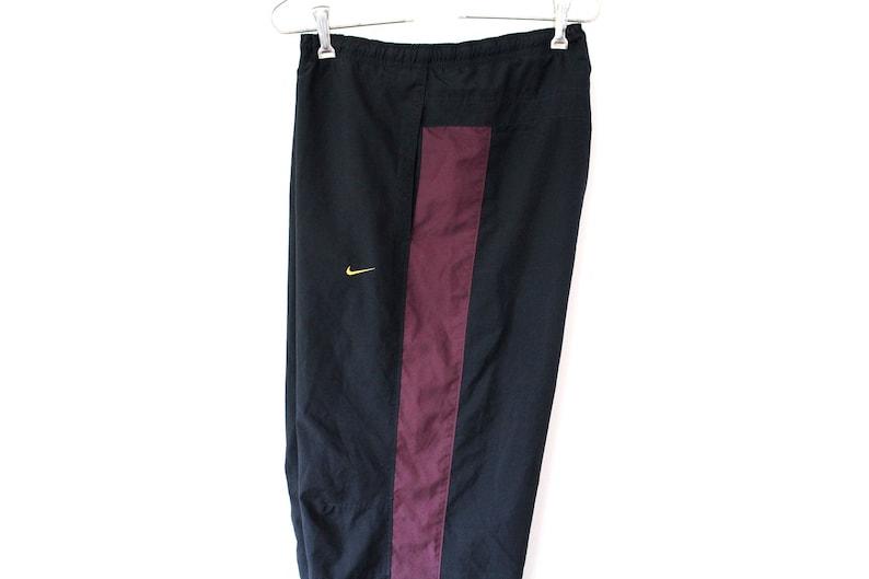 a69196c72db0 Black Burgundy Nike Pants Vintage Nike Windbreaker 90 s