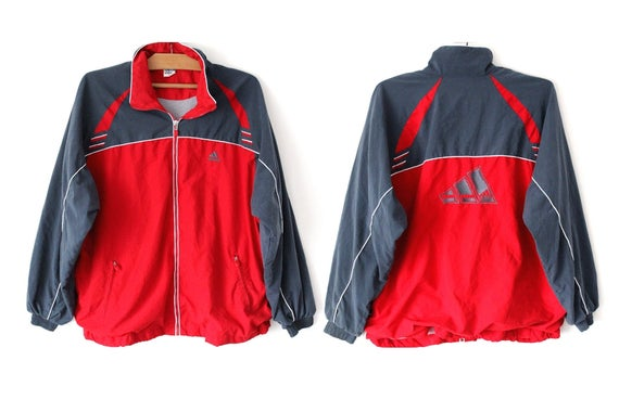 Vintage adidas Jacket in red and black XL
