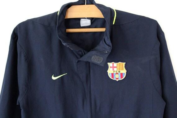 90's Nike jas blauwe Nike Windbreaker, Nike Barcelona trainingspak, Vintage Nike Sweatshirt, FCB Nike jas, Nike Track Jacket maat M