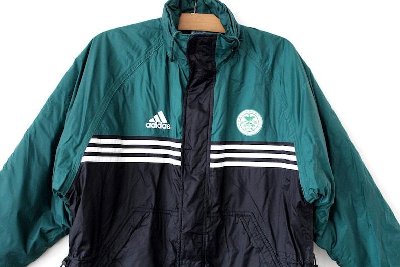 billig Vintage ADIDAS Jacke, 90er Jahre Adidas Polyester
