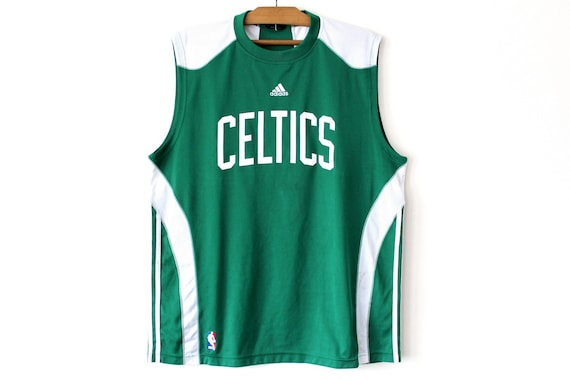 Vintage Adidas Celtics Jersey Green White NBA Jersey Boston  4ce616b98