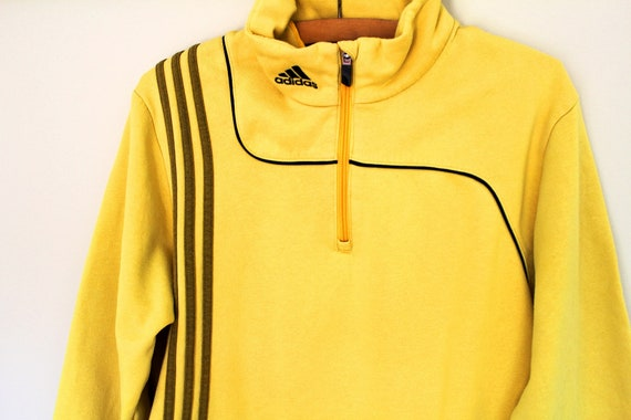 b43c392edea0 Vintage Adidas Sweatshirt Yellow Adidas Pullover Adidas   Etsy