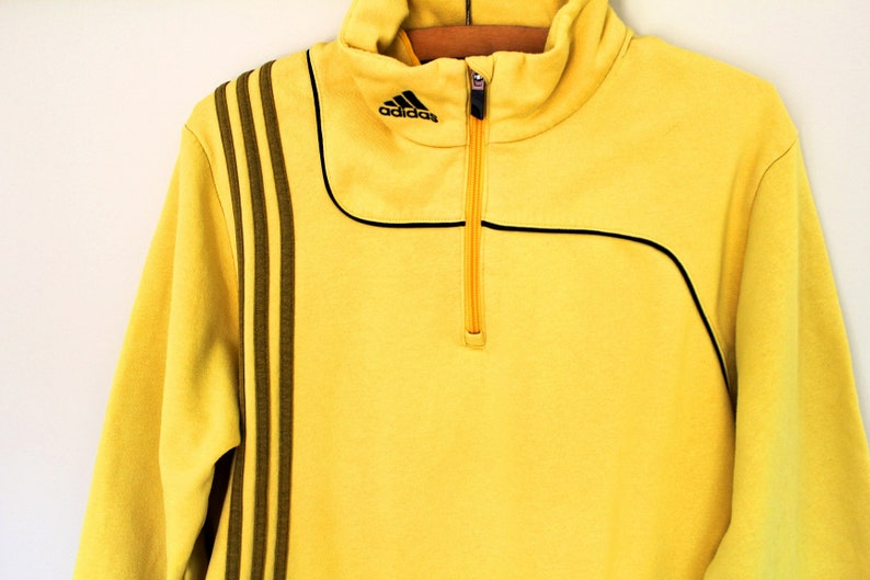 a013cc914461 Sweat Adidas Vintage pull jaune Adidas Adidas veste 90 s