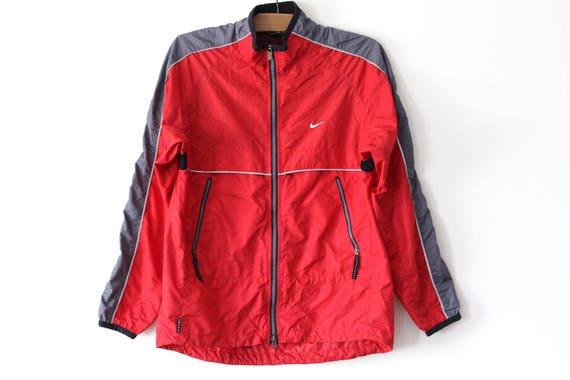 90 s Vintage Nike Windbreaker Red Gray Nike Jacket Retro  6095ee5f4