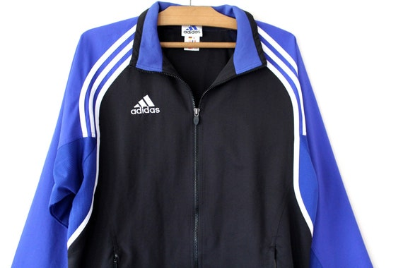 Vintage Adidas Jacke, schwarz blau Adidas Windbreaker, 90er Adidas  Sweatshirt, Adidas Trainingsanzug, seltene Adidas Trainingsjacke, Adidas  Tennis 101718f48a