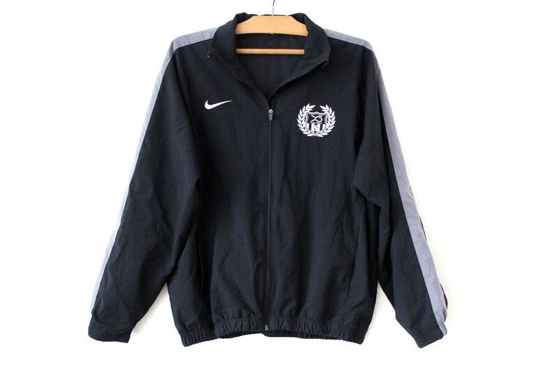 atención Espíritu Comparable  Vintage Nike Windbreaker Wind Jacket Black Gray Zipped | Etsy
