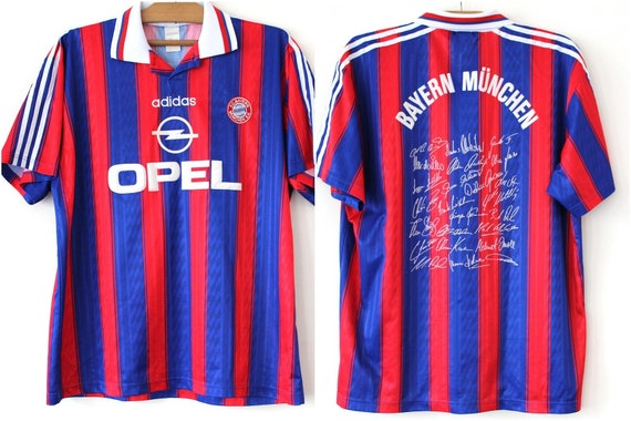 Signed XLarge Bayern 1997 Home Football in Autograph Jersey Munchen Portugal 1995 Original Shirt Made Adidas Commemorative Bayern Munich 70fxRf