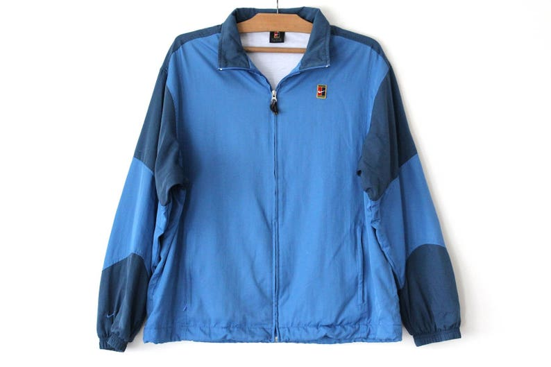 be95ed74f457 90 s Nike Windbreaker Vintage Nike Tennis Jacket Blue