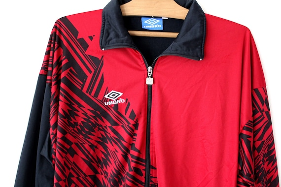 Vintage Umbro track jacket Side Tape men/'s 90s umbro jacket-track training jacket-umbro football clothing sportswear Small logo Full Zipper