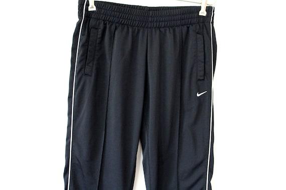 90er Jahre Nike Hose, Vintage Nike Track Bottoms, schwarz Nike Track Hose, Nike Swoosh, Nike Sport Hose, Nike Jogging Laufhose, Hip Hop