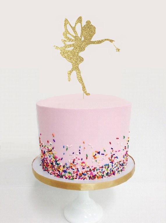 Fairy Glitter Cake Topper Tinkerbell