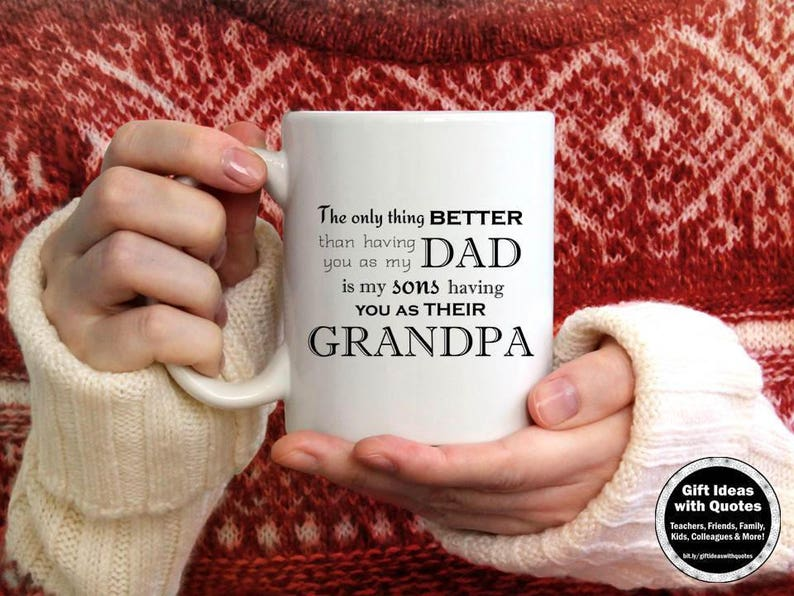 Grandsons Quote For Dad On Grandparents Day Coffee Cup Etsy