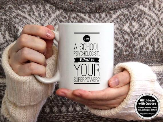 School Psychologist Gift Superpower Mug Psychology Gifts Etsy