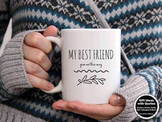 Best Friend Coffee Mug Long Distance Funny Best Friend Coffee Etsy