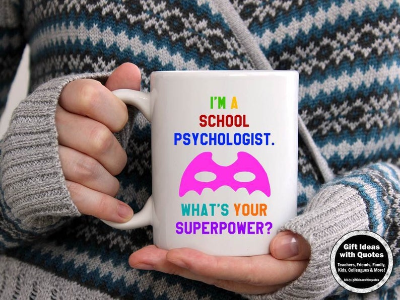 School Psychologist Gifts Whats Your Superpower Mug Etsy