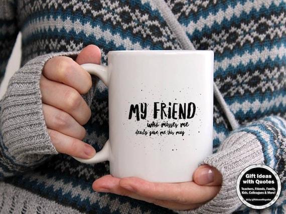Przyjaciel Dalekobieżnych Pomysłów Na Prezent Przyjaźń Odległość Dar Kubek Kawy Przyjaźń Przyjaciel Odległość Prezent Dla Niego Kobieta Lub
