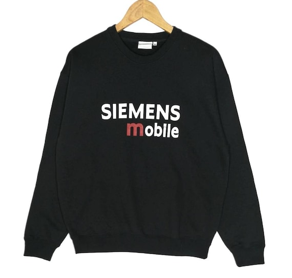 5b8e3e5959 On Sale Rare Vintage Siemens Mobile Sweatshirt Big Logo