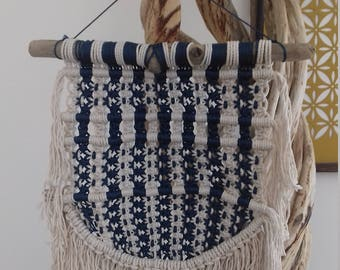 Macrame wall weaving