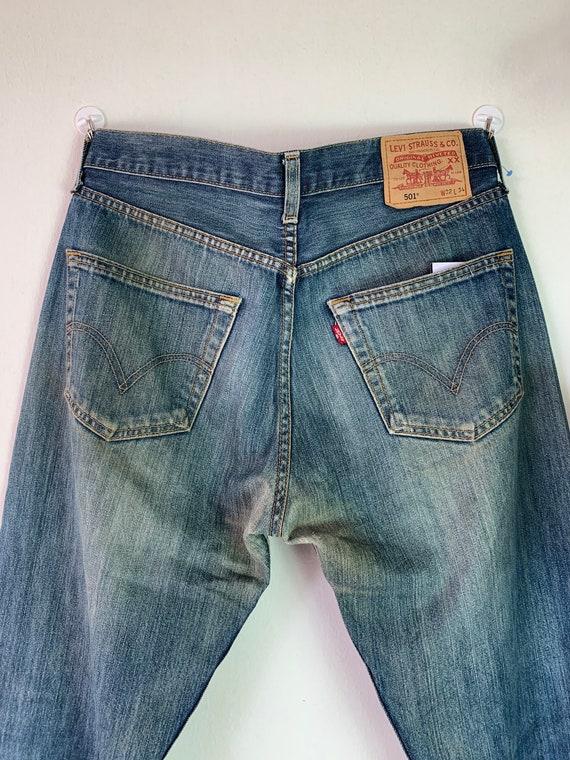 Vintage Levis 501 Distressed Denim Jeans / Mom Jea