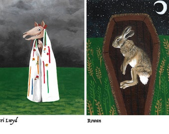 Folklore greetings cards pack of three