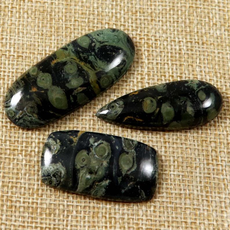 Star Galaxy Kambaba Jasper Natural Gemstone Cabochon MIx Shape Ring Earring Pendant Crafts Jewelry 3 Pcs 70.35 Cts Wholesale Lot LAU-11