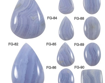 Natural Blue Lace Agate Genuine Designer Gemstone Cabochon, Mix Shape Loose Gemstone For Wire Wrap Jewelry Making,FG-81-90