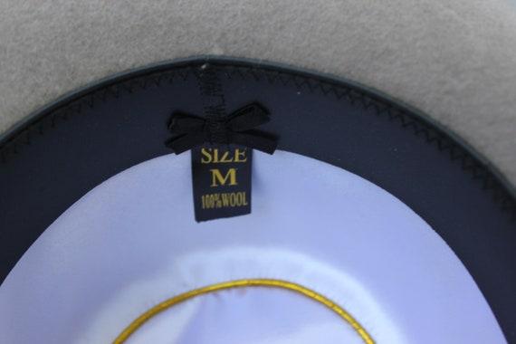Vintage Bowler Hat English Borsalino Hat Men Gray… - image 7