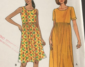 Women's Easy Dress Pattern Simplicity #8190, women's size 6-24, or XS-XL, Uncut, instructions included, Good condition