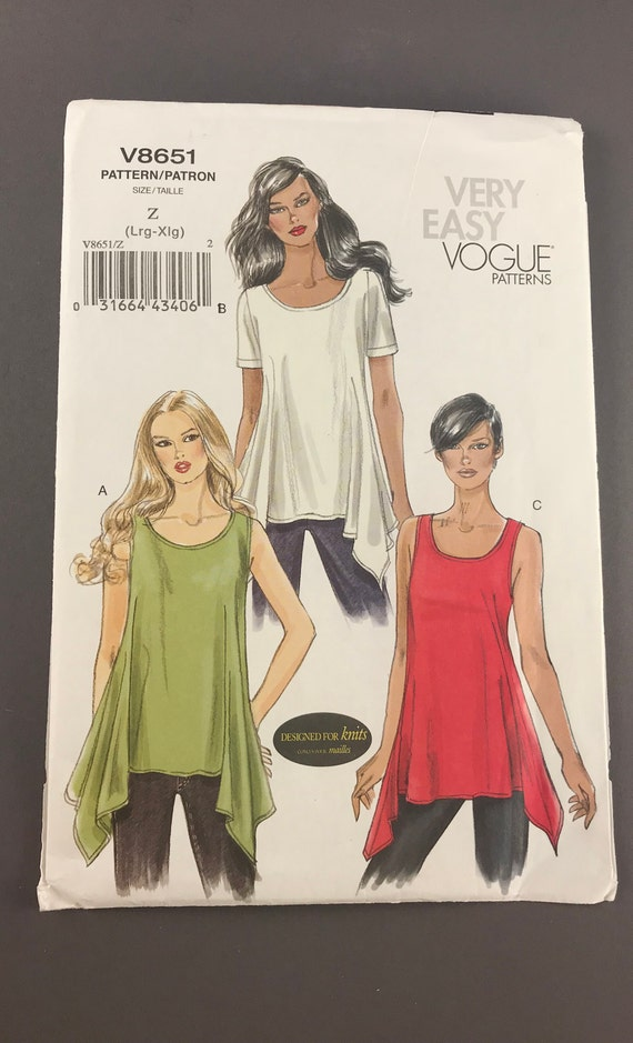 Very Easy Vogue Sewing Patterns Trendy Ladies Sleeved And Etsy Amazing Vogue Sewing Patterns