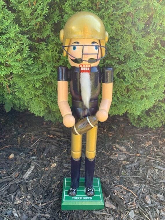 Notre Dame Fighting Irish Nutcracker; ND Custom Painted Nut cracker; College Football Christmas Decor; Fighting Irish Fan Decor; Football