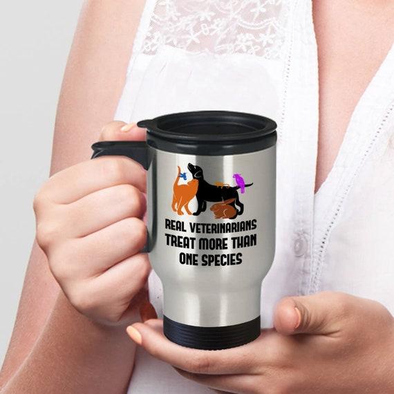 Funny Veterinary Technician Travel Mug, Vet Med Gifts, Funny Veterinarian  Quotes, Veterinary Student Travel Mug, Treat More Than One Species