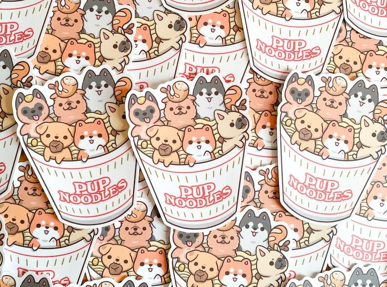 Pup Noodle Waterproof Vinyl Sticker