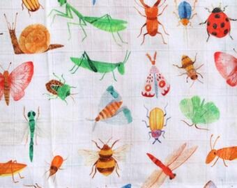 Bugs muslin swaddle blanket