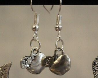 Apple charm earrings