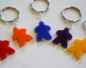 Meeple keyring - five colours available
