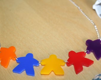 Statement meeple style necklace