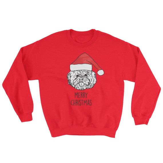 Pomeranian Merry Christmas Drawing Sweatshirt Cute Dog Dogs Etsy