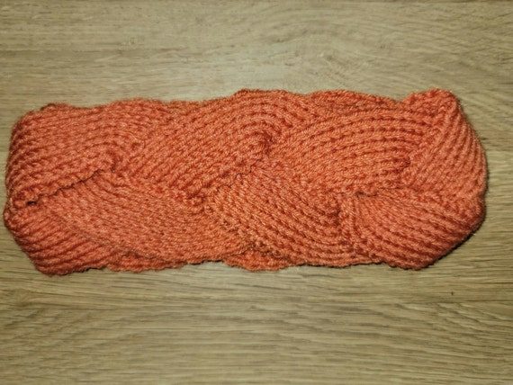 Orange Braided Headband