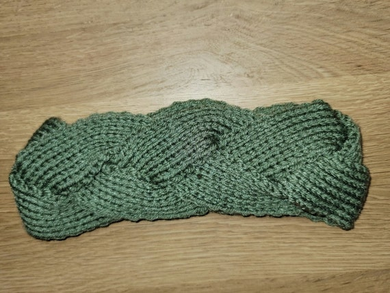 Green Braided Headband