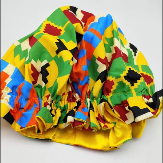 Kid Kente Patter Bonnet Cap
