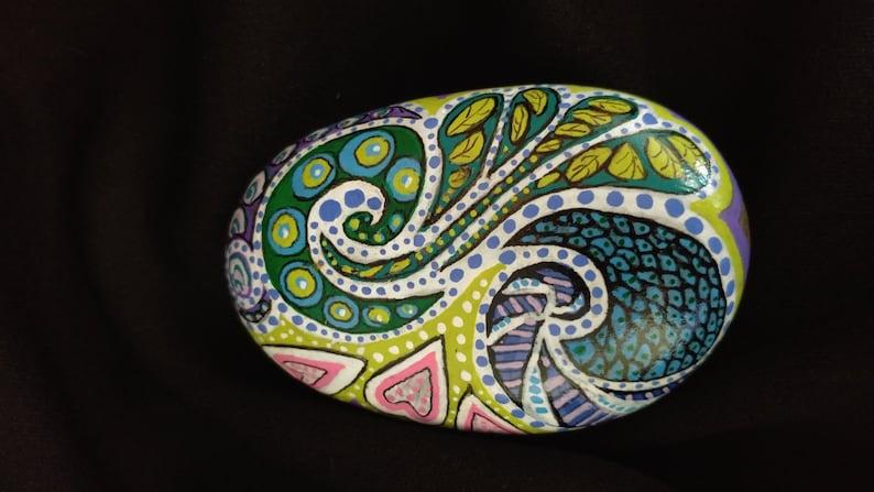 Original Free Form Painted Stone
