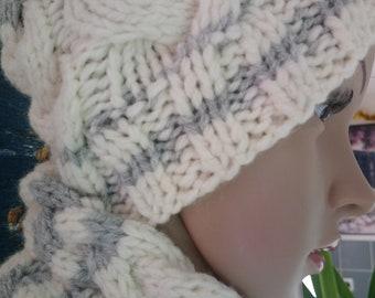 496b1126501a Bonnet en laine, bonnet chaud, bonnet hiver, bonnet fait main, bonnet pour  elle, cadeau pour elle, accessoires, chapeaux et bonnets d hiver